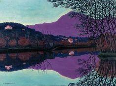félix vallotton - paysage aux reflets, 1921