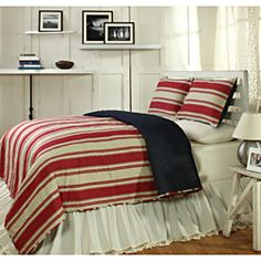 Canon Red 3-piece Quilt Set | Overstock™ Shopping - Great Deals on Cottage Home Quilts
