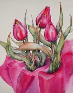 March 2013 Watercolor Challenge - Tulips - Page 7 - WetCanvas