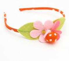 Flower & Mushroom felt headband