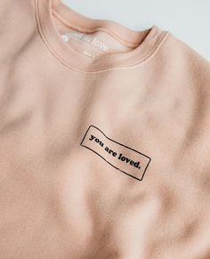 You Are Loved Peach Crewneck Sweatshirt – walk in love. Walk In Love, Christian Clothing, Christian Hoodies, Streetwear, Crew Neck Sweatshirt, Sweatshirt Outfit, Shirt Dress, Diy Clothes, What To Wear