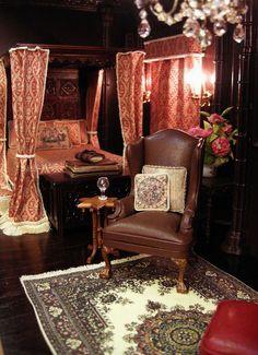 Ken Haseltine Regent Miniatures via https://flic.kr/p/aXnH9p | Tudor/Gothic Revival Style Room Box for Julie B.