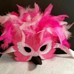 We've added a Flamingo yo our exotic masks collection. Halloween Goodies, Holidays Halloween, Halloween Party, Halloween Costumes, Homemade Halloween, Parrot Costume, Peacock Costume, Peacock Mask, Flamingo Craft