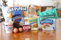 Ingredients for Hot Chocolate Cupcakes