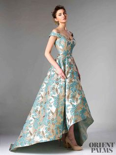 Marvelous fairytale high low evening gown by Edward Arsouni Couture. Dress in this Edward Arsouni Couture and feel like a princess, like Cinderella. Gala Dresses, Event Dresses, Occasion Dresses, Formal Dresses, Mode Outfits, Dress Outfits, Fashion Dresses, Pretty Dresses, Beautiful Dresses