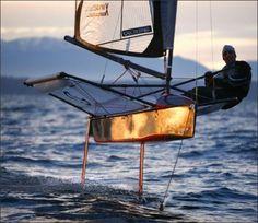 15921ab29bdb7 Dalton Bergan sails his moth hydrofoil sailboat near Shilshole Bay Marina.