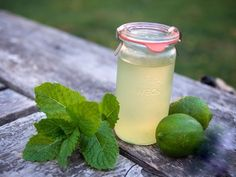 Mint Lime Syrup — Beauty and the Feast Healthy Diet Recipes, Detox Recipes, Clean Eating Recipes, Mango Float, Milk Jelly, Home Canning, Gin And Tonic, Kraut, Glass Of Milk