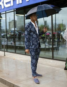 Umbrellas were integrated into sartorial displays at the recent SXSW music festival. (Photo: Ben Sklar for The New York Times)