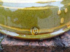 Slipware Studio Art Pottery Chicken Egg Holder - AB mark