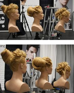 HOW-TO: 3 Easy Updos with Fishtails, Fingerwaves, and Backcombing. Get the steps on how to achieve these three styles.