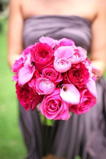 pink wedding flowers bouquet