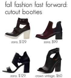 Zara booties and the cut-out shoe trend are definitely on this D.C. Fashion blogger's list of Fall fashion must-haves.