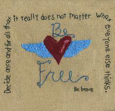 Be Free Stitchery Pattern Download