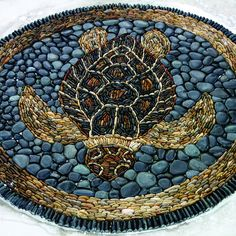 Lagoon Pool STAGE Closeup of mosaic turtle in lagoon pool. Mosaic Stepping Stones, Pebble Mosaic, Stone Mosaic, Pebble Art, Mosaic Art, Mosaic Glass, Mosaic Tiles, Glass Art, Stained Glass