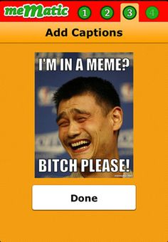 Mematic  Create your meme in four easy steps! Choose either 'Advice Animal' or 'Demotivational' style before uploading your personal pictures, or choose from a number of popular meme images before adding your personalized caption. [Free]