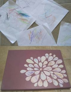 Turning your toddlers scribbles into art