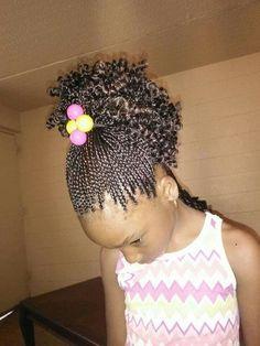 Fine Little Girl Box Braids Pinteres Hairstyle Inspiration Daily Dogsangcom