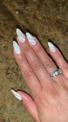 Acrylic Nails Coffin Short, Simple Acrylic Nails, Almond Acrylic Nails, Summer Acrylic Nails, Best Acrylic Nails, Spring Nails, Summer Nails, Cute Almond Nails, Almond Nail Art