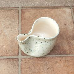 Egg separator bowl wheelthrown ceramic pottery by CaractacusPots