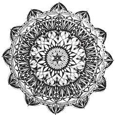 Mandala 1 Art Print by Shelley Swain | Society6