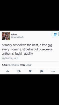 FuCK YE I'M AN ATHEIST BUT I LOVED SINGING THOSE SONGS IN THE MORNING