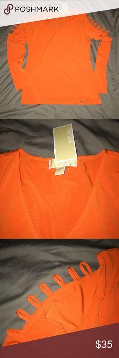 Michael Kors Women's Shirt Size M NWT NWT Size M Poppy (Orange) Michael Kors Tops Blouses