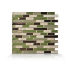 Muretto Eco Smart Tiles. Peel and stick tiles are also removable.