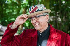 Chris van der Elv - Pork Pie Upcycling Hat Union Jack Style Old Jute Chair Drape Union Jack, Jute, Panama Hat, Berlin, Stylish, Unique, Repurpose, Utah, Burlap