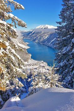 Achensee in winter, Austria