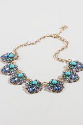 Dover Statement Necklace in Blue