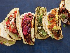Link for the 'best ever taco party' menu from Bon Appetit. Amazingly authentic recipes from corn tortillas to mouth-watering salsas & homemade chorizo. Think Food, I Love Food, Food For Thought, Good Food, Yummy Food, Taco Party, Snacks Für Party, Party Recipes, Great Recipes