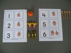Lessuggesties met de mini's van Albert Heijn, tellen - meer - minder - sorteren.