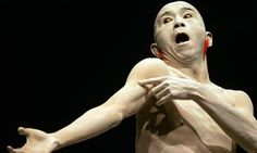 A butoh dancer performs