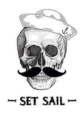 Set sail (Anton Abo) Tags: illustration skull abo setsail deadseaman