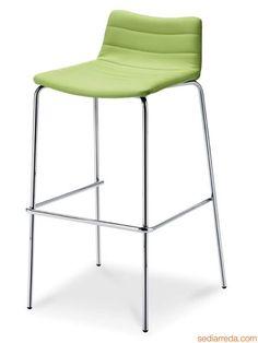 Cover SG | Hocker aus Metalla mit Sitz aus Stoff, Leder oder Ökoleder