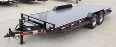 Tilt Bed Trailers - We can special order any size trailer to fit your needs! Tilt Trailer, Car Hauler Trailer, Trailer Plans, Trailer Hitch, Stair Stringer Calculator, Trailer Wiring Diagram, Ford Ranger Wildtrak, Horse Barn Plans, Equipment Trailers