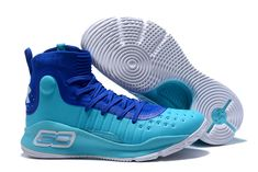 bfc4bd022043 Mens Under Armour Curry 4 Mid Basketball Shoes Royal Blue Sky Blue White