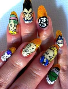 Community: 31 Images Of Gorgeously Geeky Nail Art. Dragonball Z!