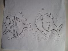 Molde de peixinhos para patchwork.