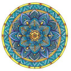 Coloured Mandala 2 July 2014 by Artwyrd.deviantart.com on @DeviantArt