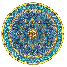 Coloured Mandala 2 July 2014 by Artwyrd.deviantart.com on @DeviantArt