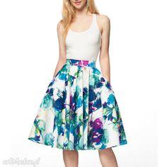 Spódnica koło midi amanda spódnice livia clue kwiaty