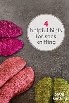 4 Helpful Hints for Sock Knitting. Knitting tips and tricks for knitting socks that will help you with your sock projects! Take a look on the blog at LoveKnitting.