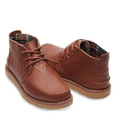 Another great find on #zulily! TOMS Brown Leather Chukka Boot by TOMS #zulilyfinds