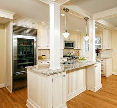 Alexandria Timeless Kitchen Addition traditional kitchen  Columns with storage under bar