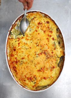 Spinach gratin #recipe using the season's first spinach #HudsonValley #take out #to go #catering