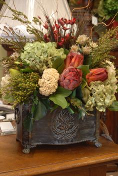 A Delightful Floral Christmas Flower Arrangements, Funeral Flower Arrangements, Flower Arrangements Simple, Silk Floral Arrangements, Fall Arrangements, Floral Centerpieces, Dining Room Table Centerpieces, Table Decorations, Silk Flowers