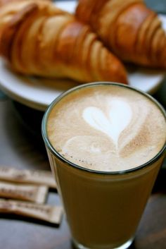 Bonjour ! Coffee and Croissant. Perfect breakfast :D