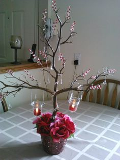 Another wedding centerpiece we created and added our own flair to it.