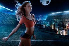 Brazil World Cup 2014 football baby sexy wallpaper - HD Wallpapers Brazil World Cup, World Cup 2014, Fifa World Cup, Girl Football Player, Football Girls, Football Stuff, Push Up Bikini, Sexy Bikini, Bikini Set